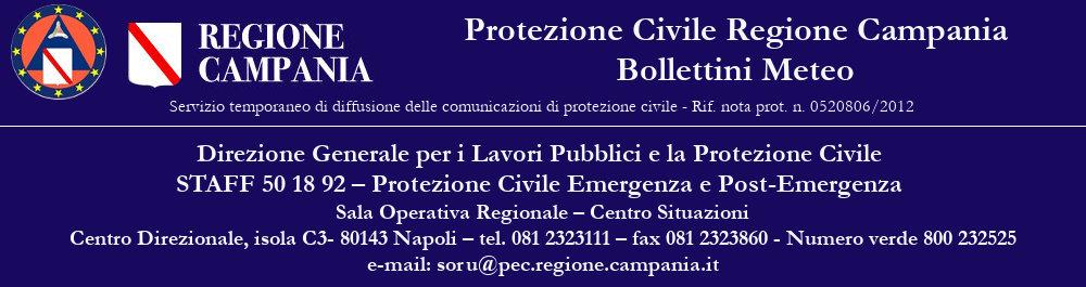 Bollettini Meteo Protezione Civile Campania